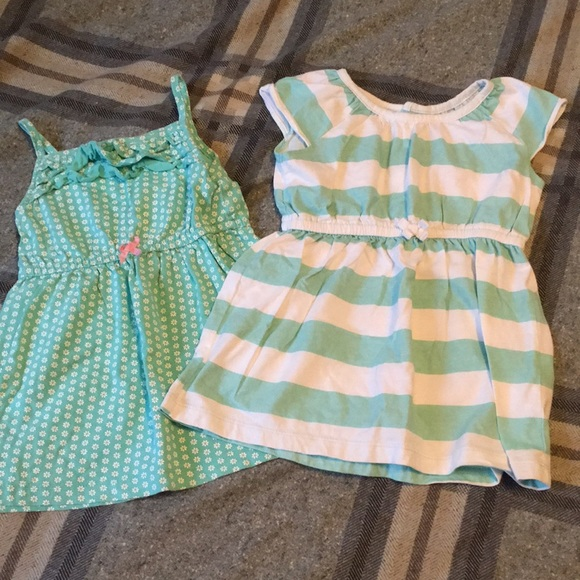Carter's Other - 2 dresses~Stripes and flowers~